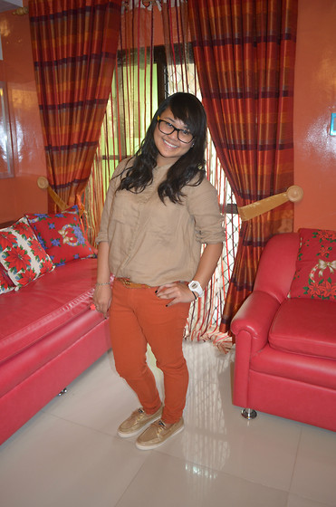 Michi Eleni Camaña - Zara Button Down, Zara Pants, Sperry Topsiders Top Sider, Casio G Shock - Merry Christmas!
