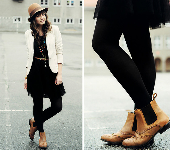 Maddy C - Boots, H&M Dress - Chelsea boots.