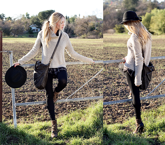 Shea Marie - Helmut Lang Sweater, Hobo International Bag, Aldo Boots, Forever 21 Hat - Coming Home
