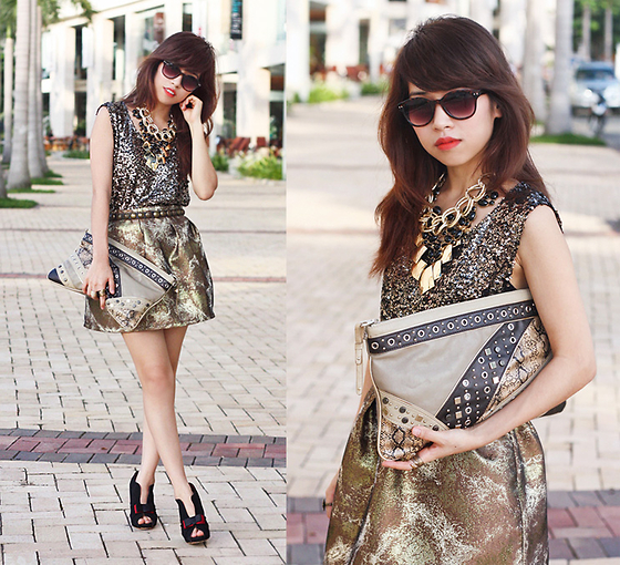Linda Tran N - Sequined Top, Mango Clutch, Skirt - Time to say goodbye 2011