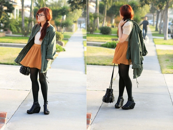 Bernadette Le - Sway Utility Jacket, Target Black Tights, Matiko Julie Shoe, Imoshion Bucket Bag - Happy New Year, everyone!