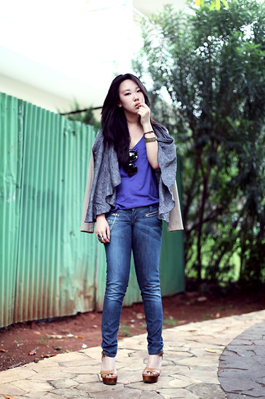 Michelle Koesnadi - Cotton Ink Jacket, Miss Sixty Jeans - I'm ALL BLUES