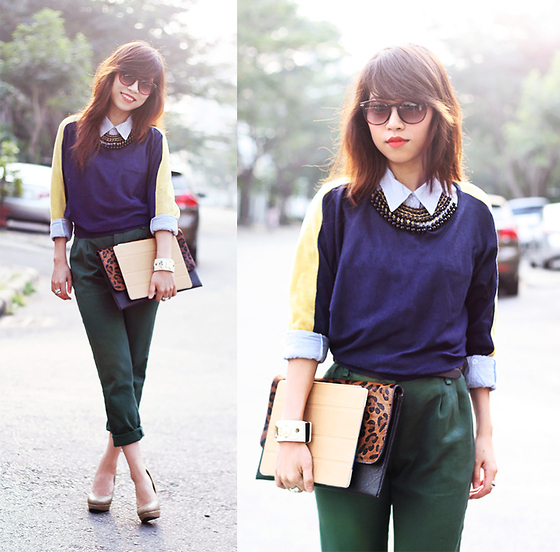 Linda Tran N - Knit, Forever 21 Shirt, Zara Pants - Winter in Saigon