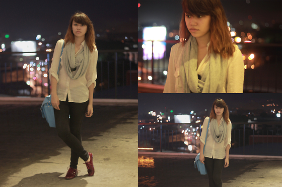 Mia Durano - Forever 21 Shirt, Terranova Scarrf, So Fab Oxfords - A Cold Stoll