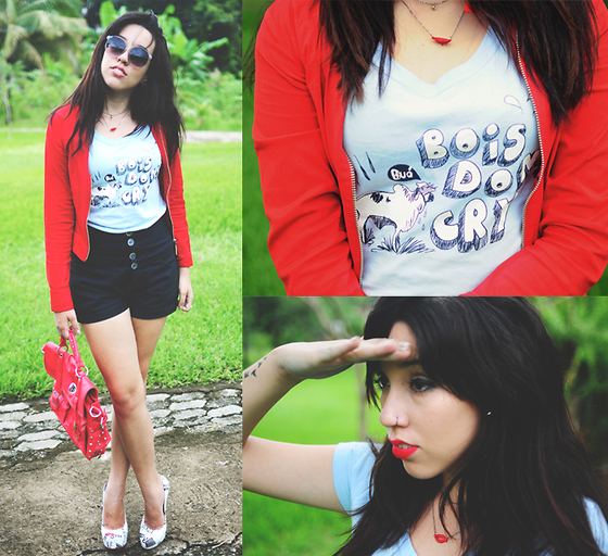 Bruna Vieira - Redn Jackets, High Rise Shorts, Funny T Shirt - So Yesterday
