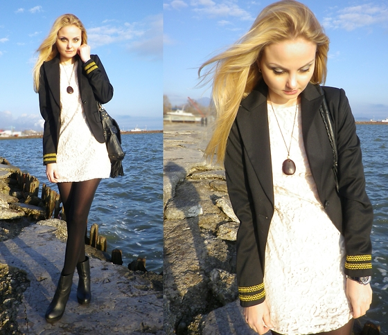 Violetta Privalova - H&M Dress, Asos Bag, Carlo Pazolini Boots, Showroom Jacket - Sea Dreams