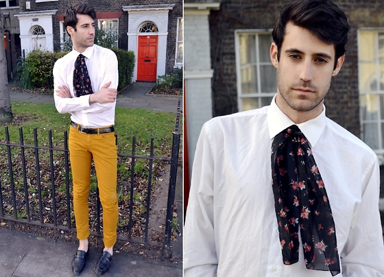 Adrian Cano - Skinny Trousers, Loafers, Belt, Printed Scarf - Say YES, Say NO.. say MAYBE