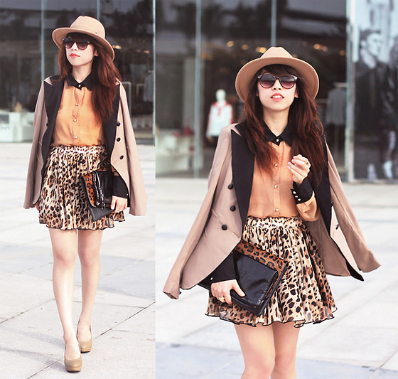 Linda Tran N - Blazer, Shirt, Skirt, Hat - When nothing goes right - go left!