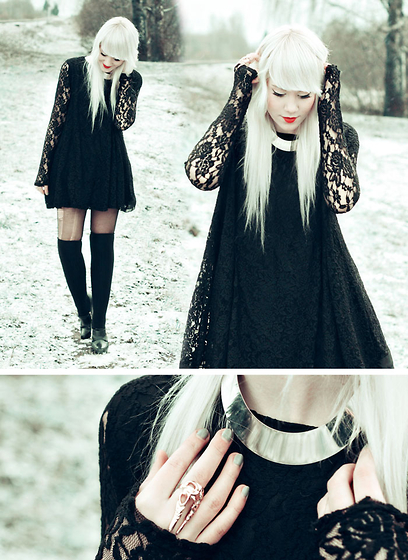 Kerti P. - Lace Dress, Lindex Necklace, Ring -  Please don't talk to me, I fall in love so easily.