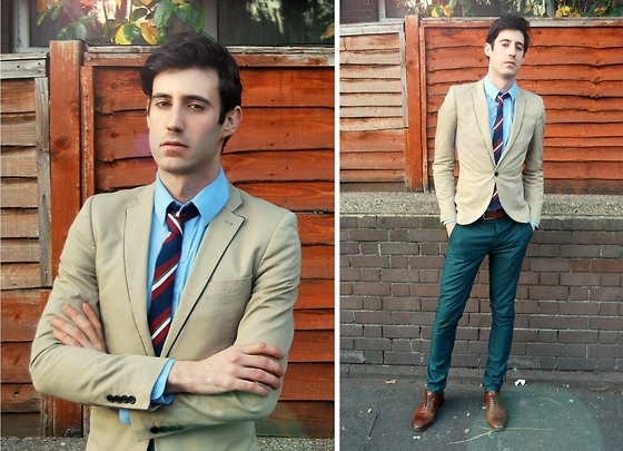 Adrian Cano - Topman Cream Blazer, Asos Formal Trousers, Reiss Brogues, Reiss Shirt, Primark Tie - Oxford