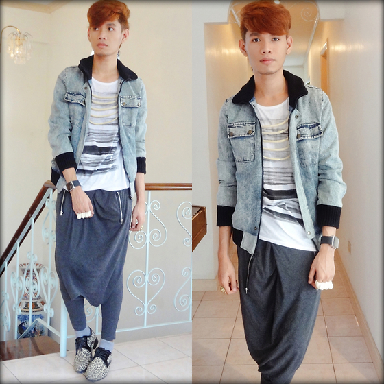 Rhonnel Tan Santos - Trifted Jacket, Oxygen Shirt, Sweater Used As Pants - Life isn't fair, but it's still good.