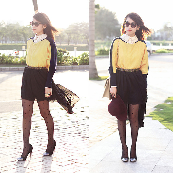 Linda Tran N - Stylesample Skirt, Nowzone Sweater - It takes two to get one in trouble