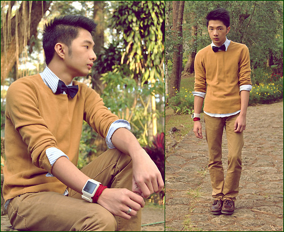Levin Beren - Bowtie, Gift Khaki Pants, Sperry Boatman Shoes, Calvin Klein Button Down Shirt, Apple Ipod Watch - Birthday Gift
