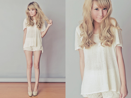"Tricia Gosingtian - Astars ""Forever Young"" Shirt, Shorts, Heels - 022212"