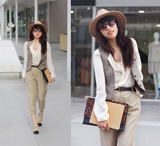 Linda Tran N - Zara Shirt, H&M Vest, Zara Pants - You're the cream in my coffee