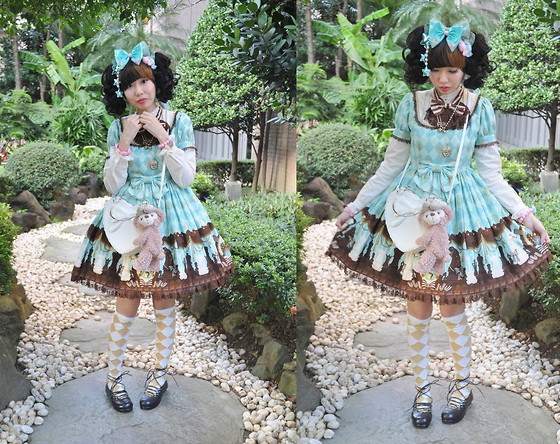 Zairai Chen - Claire's Pink Rose Bracelet, Disney Shelliemay Bags, Claire's Rose Necklace, Chantilly Glitter Diamonds Over Knee Socks, 6%Dokidoki Candy Bracelet, Baby The Stars Shine Bright Black Ballerina Flats, Chocomint Pink Candy Hair Clip, Angelic Pretty Chess Chocolate Op, Chocomint Mint Candy Hair Clip, Angelic Pretty Chess Chocolate Bow, Chocomint Mint Star Bow, 6%Dokidoki Blue Star Hair Clip, Baby The Stars Shine Bright Ribbon Heart Bag - Chess Chocolate