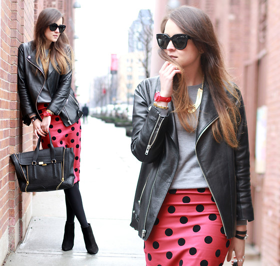 Andy T. - 3.1 Phillip Lim Bag, Asos Polka Dot Skirt - POLKA