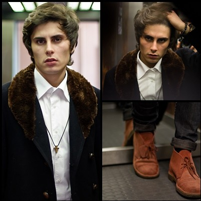 Kevin Andrade - Yves Saint Laurent Jacket, Clarks Shoes - Go up