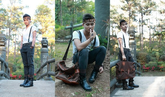 Kojin Domingo - Bag, Sm Accesories Suspender, Sm Dept. Store Bandana - Living by the Cross