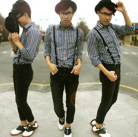 Steven Reeder - American Apparel Fedora, H&M Black Suspenders, Thrifted Vintage Shoes - You're the comeback kid