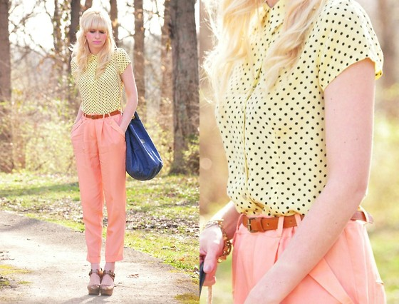 Coury Combs - Vintage Blouse, Asos Pants, Rachel Comey Shoes - Spring is IN THE AIR.