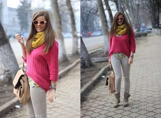 Ana Ciorici - Asos Sweater, Scarf And Sunnies - Spring Break