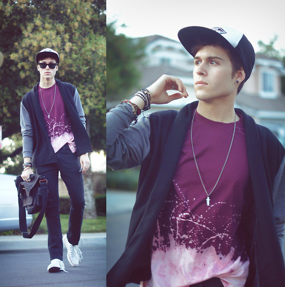 Adam Gallagher - Cardigan, Splattered Shirt, Necklace - Infatuation