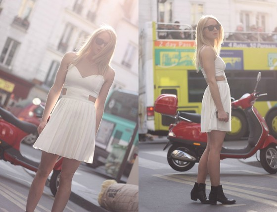 EMILIE HIGLE - Style Stalker Dress, Maje Boots - THE WHITE DRESS