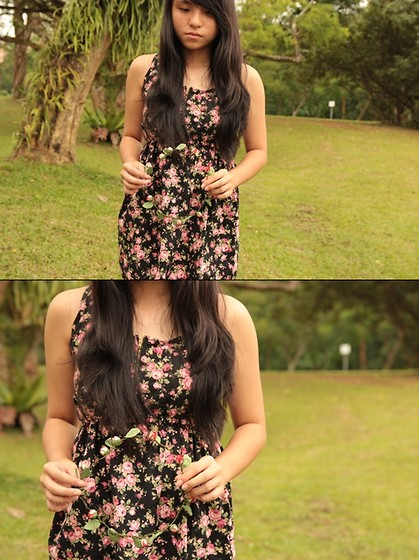 Mirabelle K - Black Floral, Diy Rose Head Wreath - The girl in the dress