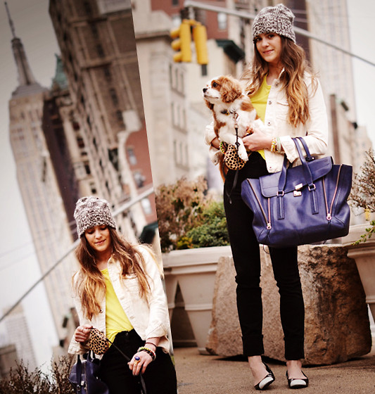Laura Ellner - Madewell Hat, Zara Jacket, 3.1 Phillip Lim Bag, Chanel Shoes, J Brand Jeans - Empire