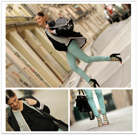 Belén @balamoda - Asos Blazer, The Extreme Collection Vest, Maje Shirt, Zara Wedges - Running with my belly