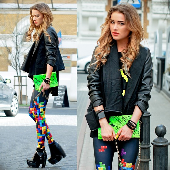 Juliett Kuczynska - Jacket, Blouse, Leggings, Bag, Bracelet - Dub Fx - Flow / maffashion
