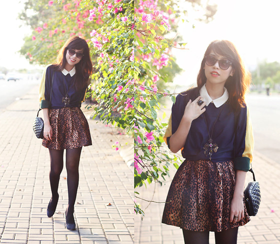 Linda Tran N - Knit, Zara Skirt - Spring always makes my heart sing