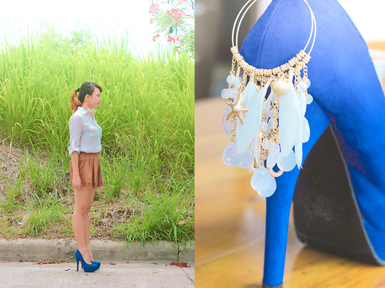 Mia Durano - Forever 21 Pumps, Aldo Earrings - Grassroots.