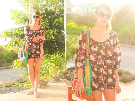 Mia Durano - H&M Floral Top - Beams and Rays.
