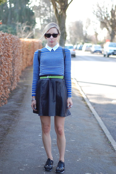 Daniella Robins - Alexander Wang Sweater, Warehouse Leather Skirt, Alexander Wang Trainers - Sporty Spring