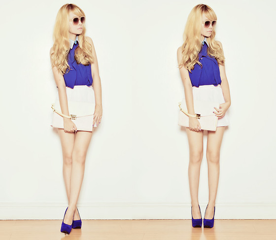Tricia Gosingtian - Top, Topshop Shorts, Shoes, Accesorize Clutch, Detachable Collar, Sunglasses - 040911