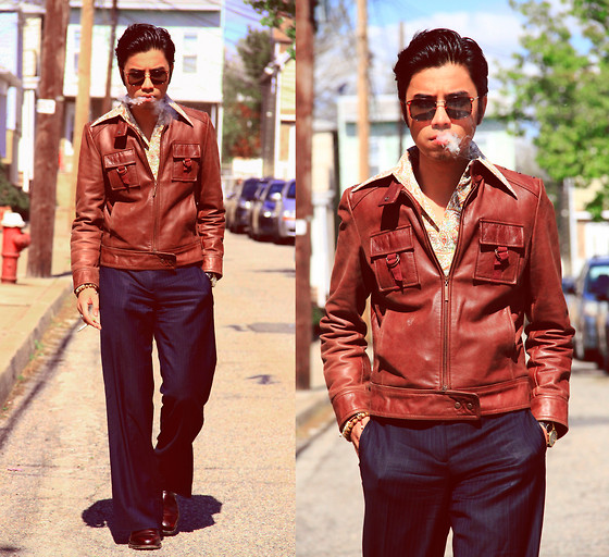 Denny Balmaceda - Marc By Jacobs Jacket, Another Man's Treasure Vintage Button Up - Inspired by the film Donnie Brasco.