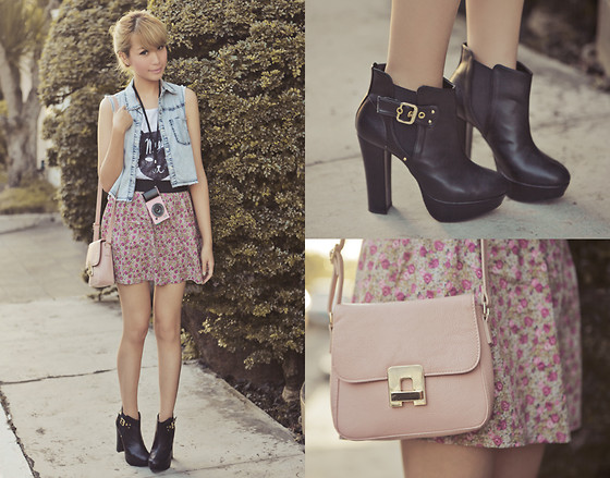 Tricia Gosingtian - Iphone Case, Forever 21 Vest, Topshop Top, Just G Skirt, Forever 21 Bag, Esperanza Boots - 041412