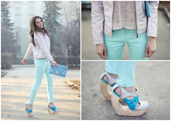 Lina Linadelika - J Brand Jacket, Asos Jeans, Jeffrey Campbell Wedges, H&M Sweater, Asos Clutch - Michael Buble – Havent Met You Yet
