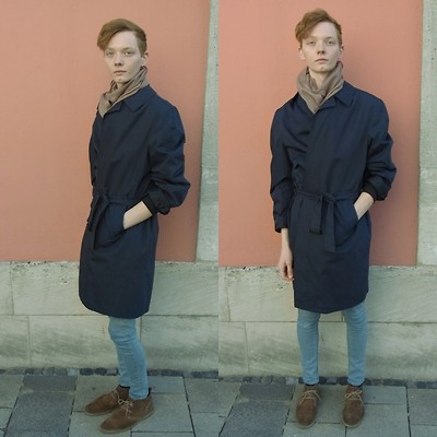 Ben Benson - Cheap Monday Skinnies, Burberry Trench, Vintage - Bus Stop.