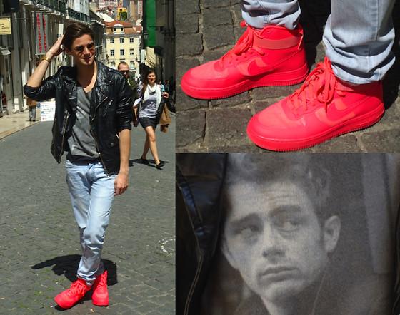 Ze Brandao Zara Leather Jacket Nike Air Force 1 Hyperfuse