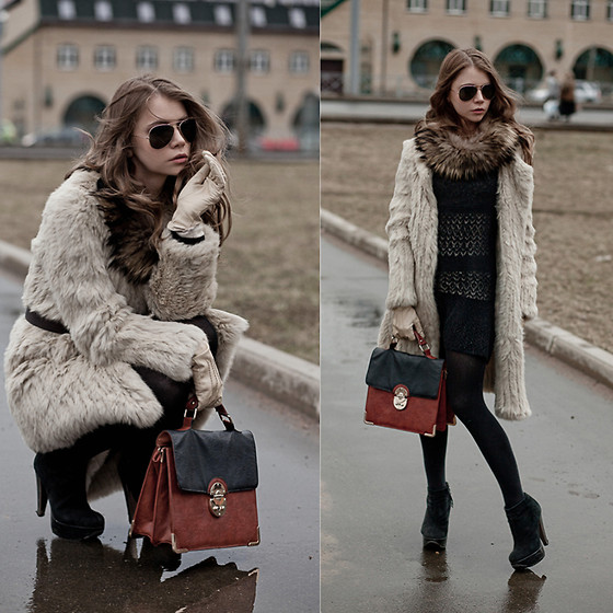 Anna Vershinina - Max And Co Fur Coat, New Look Bag, Topshop Heels - Start That Won't Begin