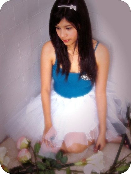 Erika Aguilar - Mango Blue Top From Mango, Head Band From Sm Dept. And A Diy White Tutu :)) - Fallen Angel