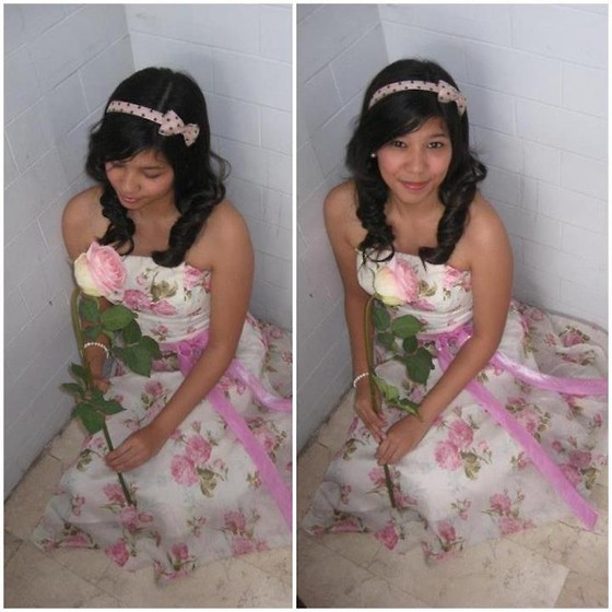 Erika Aguilar - Pink Floral Dress, Sm Dept. Store - Leave me in the Garden