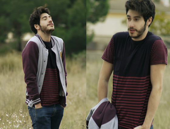 Manu Calvo - Primark Baseball Jacket, Primark Striped Shirt, Zara Jeans - Breathing life