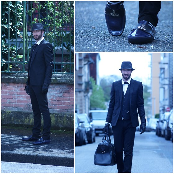 PHILIPP GOMES - Vivienne Westwood Shoes, The Kooples Gloves, Starck Watch, The Kooples Suit, Hermës Belt, Zara Bag Croco -  JACOB