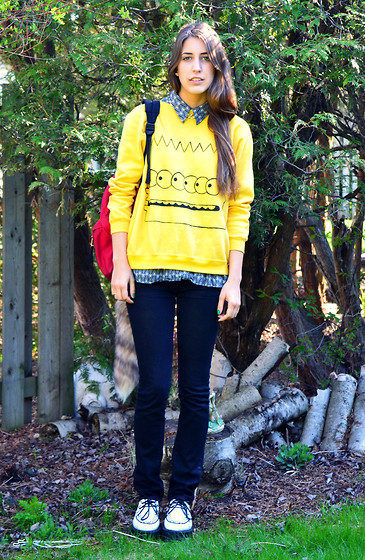 Savannah Scott - Made By Magik ∞ Bart Sweater, 7 For All Mankind Jeans, Online Creepers - ∞Bart∞