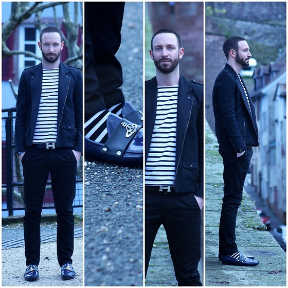 PHILIPP GOMES - Asos Marinier, Zara Pants, Hermës Belt, Vivienne Westwood Shoes, The Kooples Jacket, H&M Sock -         STREAKY