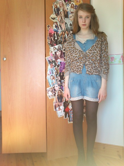 Bronagh K. - New Look Cardigan, Penneys Playsuit Thing, Penneys Top, Docs - Your teary eyes, your famous diguise